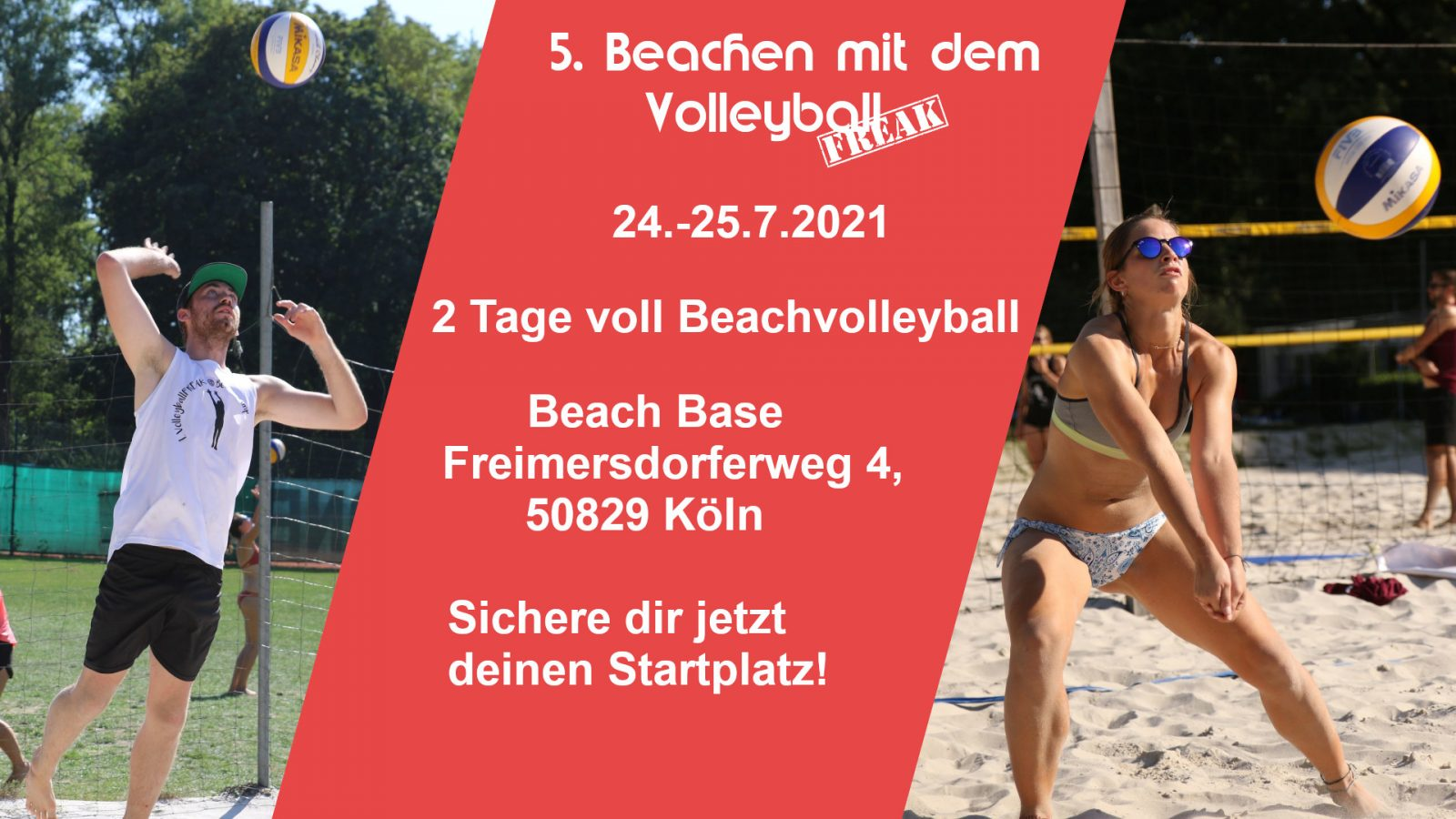 Beachen mit dem Volleyballfreak 2021