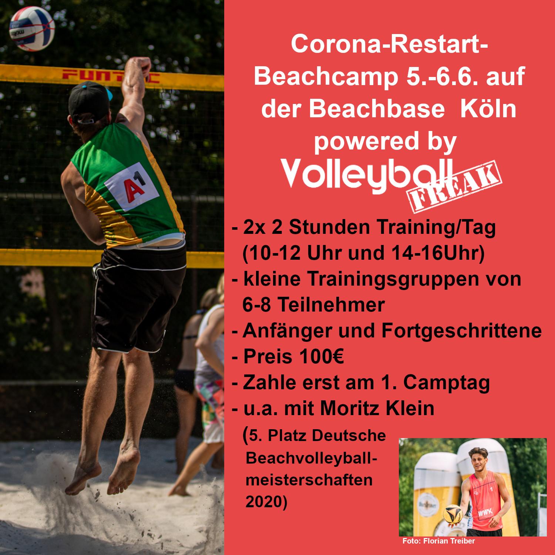 Corona-Restart-Beachamp 5.-6.6.21 in Köln