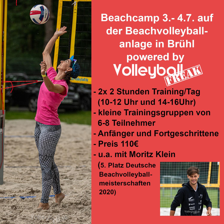 Volleyballfreak Beachvolleyballcamp 3.-4.7 in Brühl bei Köln