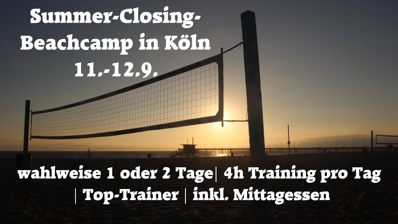 Summer-Closing Beachcamp 11.-12.9. in Köln